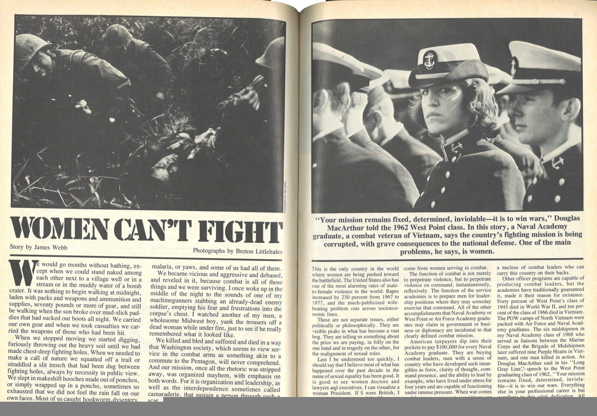 Jim Webb Women Cant Fight