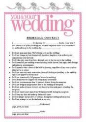 Trend Alert: Bridesmaid Prenups?