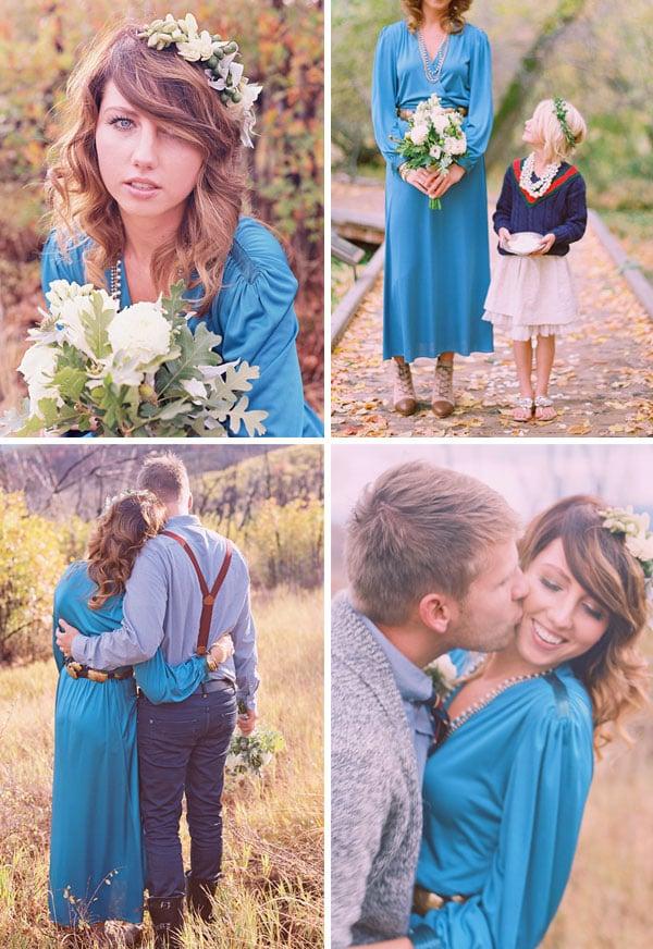 jill thomas blue wedding dress bride with style boho bride