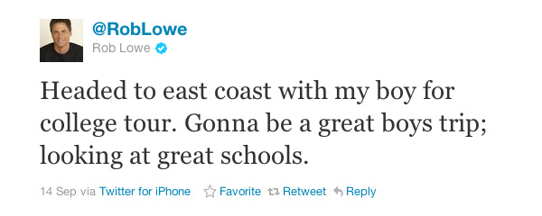 Rob Lowe tweet