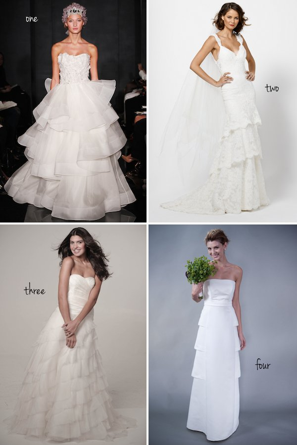 Pick Your Favorite New Tiered Wedding Dress