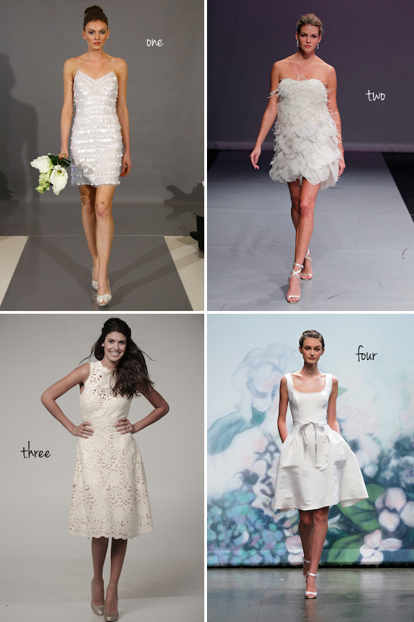 Vote For Your Favorite New Short Wedding Dress
