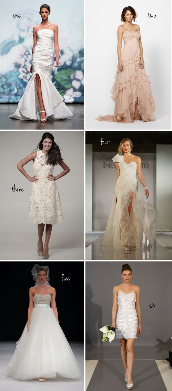 Vote For Your Favorite New Wedding Dress: The Semifinals (Round Two)