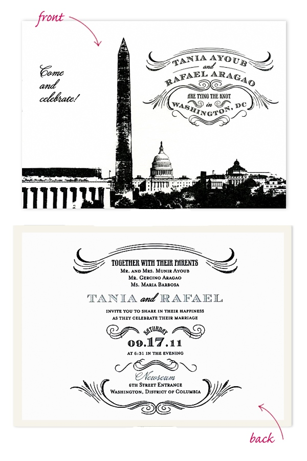 Modern DC-Themed Invitations