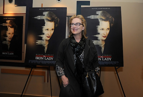 "Meryl Streep Appears at Local Screening of ""The Iron Lady"""
