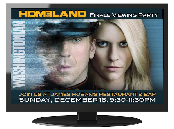 "Come to Washingtonian's ""Homeland"" Finale Viewing Party"
