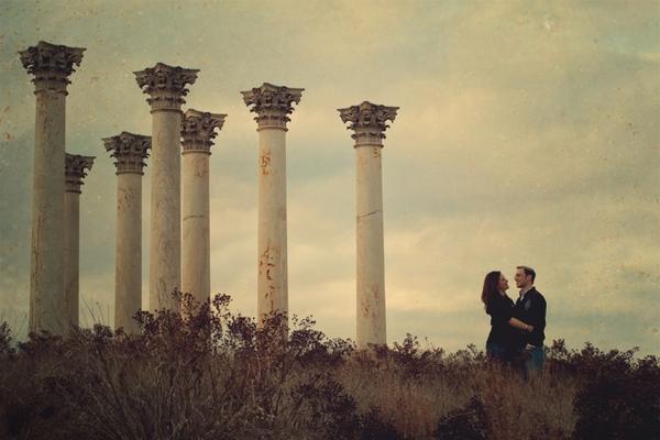 National Arboretum Engagement Shoot + Navy and Yellow Wedding