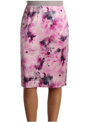 Watercolor florals on an office-appropriate wardrobe staple.