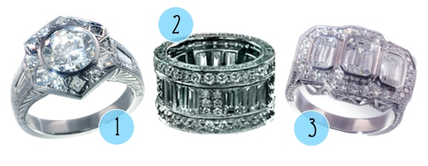 Luxe, Vintage-Inspired Rings from Adeler Jewelers