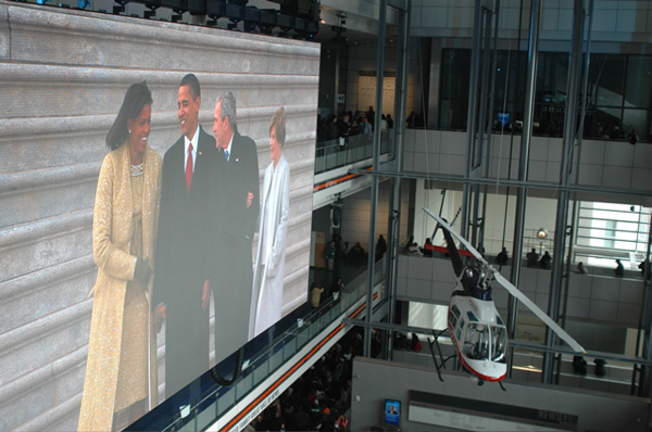 Inauguration Day at the Newseum: A Warm and Fuzzy Crowd