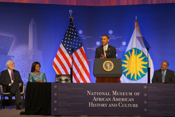 President Obama Attends a Groundbreaking for the National Museum of African American History and Culture