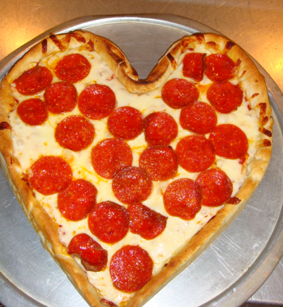 Love on the Cheap: Heart-Shaped Pies From Armand's Pizza