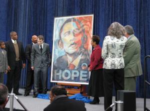Icon Obama: Shephard Fairey's Obama Image Installed at the National Portrait Gallery