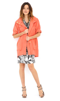 Ali Ro's signature anorak now comes in a punchy coral.