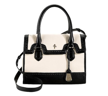 A graphic (not to mention roomy) take on the ladylike bag.
