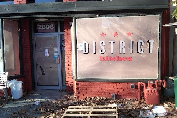 The Sign Is Up at District Kitchen