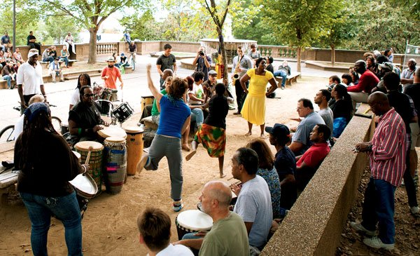 Meridian Hill Park Drum Circle: Still Going Strong