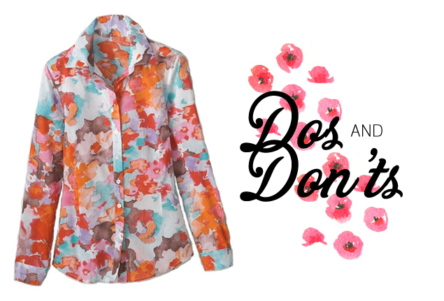 Dos & Don'ts: How to Wear Watercolor Florals