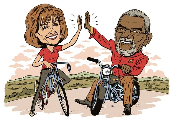 NBC4's Jim Vance and Doreen Gentzler Unscripted Moments