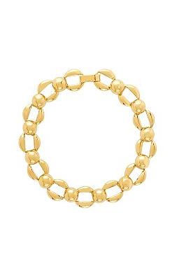 A mod take on classic gold links—so sweet over a cashmere shell.
