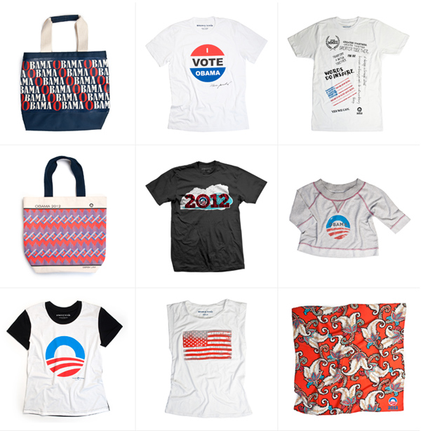 """See """"Runway to Win,"""" a Collection of Pro-Obama Merchandise Designed by Beyoncé, Marc Jacobs, Tory Burch, Diane von Furstenberg, and More"""