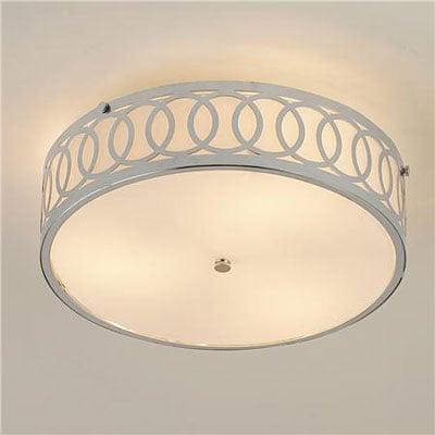 Interlocking-ring-mount flush light