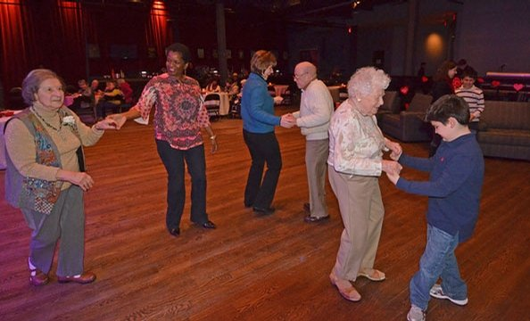 The music venue hosts a group of 90-year-olds for a Valentine's Day dance that proves love is timeless.