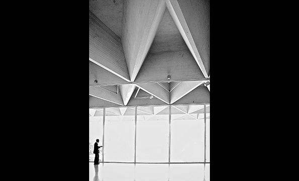 "'National Gallery, East Wing"".  The contest theme, architecture, might have given Lujan an edge: the photographer is an architect.  On a summer museum visit, he says, he was struck by the East Wing's coffered ceiling.  As he was adjusting his Nikon D70 ca"