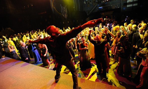 """Attendees celebrated 40 years of Wolf Trap with a congo line and the """"Ageless Wonder"""""""