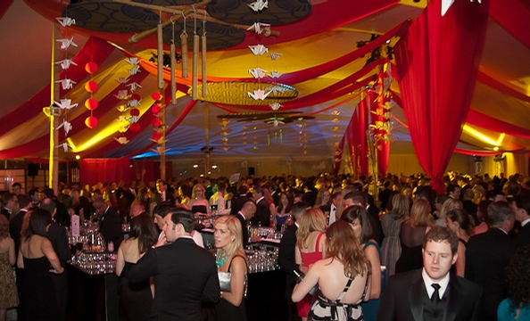 The 2011 Ball on the Mall had a Japanese theme this year, with a portion of the proceeds also benefiting Red Cross relief efforts in the earthquake-devastated nation.