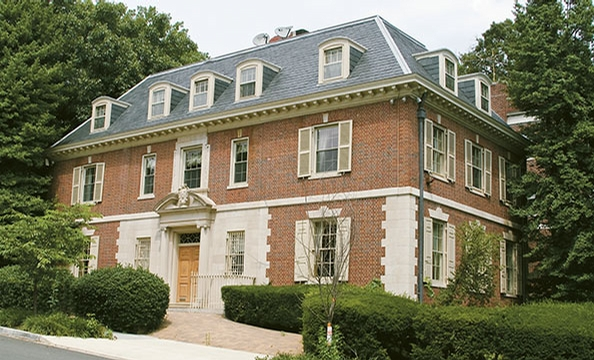 Seller: Big-time Hillary Clinton fundraiser Hani Masri. Neighborhood: Kalorama. Price: $4.4 million. Details: Five bedrooms, seven baths, outdoor terrace, wine cellar, au pair suite.