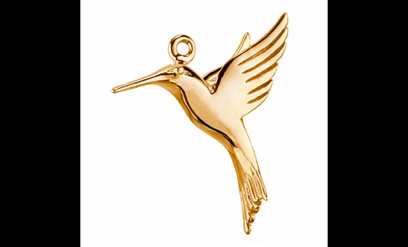 The hummingbird serves as a reminder of the species the Nature Conservancy (nature.org) works to protect through its wildlife preservation efforts. It's popular, too—this particular charm is backordered in gold, though it's still available in silver for o