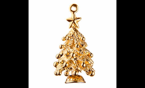 'Tis the season for this tree charm and the organization it represents: Toys for Tots (toysfortots.org), the Marine Corps' yearly effort to get Christmas gifts to needy kids, $115 for silver, $145 for gold.