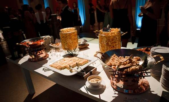 Guests enjoyed a wide variety of food.