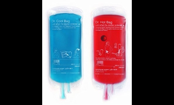 Aches and pains are part of the territory when it comes to fitness, right? Soothe them away with these cute IV-bag-shaped ice and heat packs. Just refrigerate the blue one for a bit of cool relief, and push a button to activate the heat in the red one. Bo