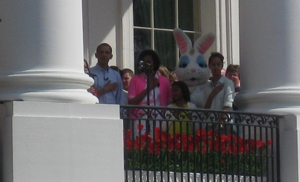 President Obama and First Lady Michelle Obama welcome thousands of children and their families to the White House for the 2010 Easter Egg Roll.