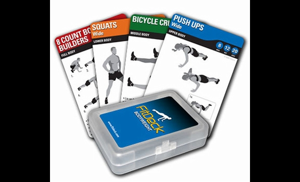 In a workout rut? FitDeck Exercise Playing Cards can shake things up. Draw a few cards from the deck at random and voilà—you've got an on-the-fly circuit workout with no equipment required. Fitdeck.com, $14.95.