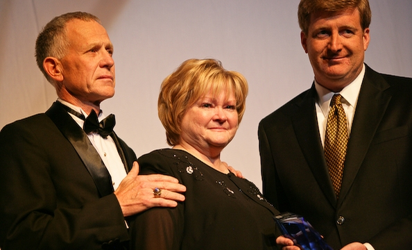 Dennis Shepard, Judy Shepard and Patrick Kennedy.