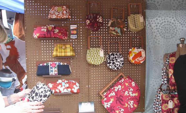 Cheery clutches and purses from Pistol Stitched.