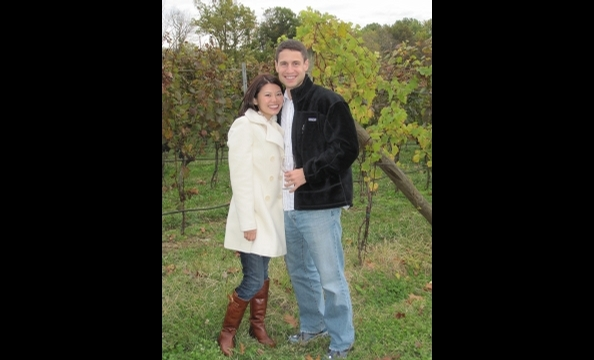 The couple enjoyed a day at Sugarloaf Mountain Vineyard in mid-October.