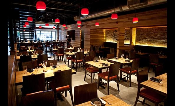 The dining room at Masa 14.