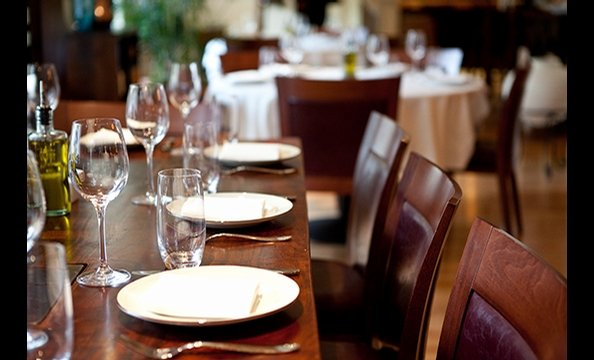 Many of Kellari's dishes are meant to be passed around the table. The three-course Aegean feast, a family-style meal with traditional Greek seafood specialties, grilled whole fish, meat, and a selection of appetizers, is $45 per person.