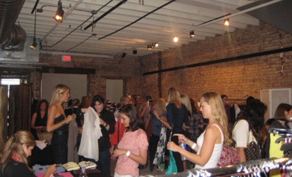 Shopper peruse the deals at the District Sample Sale.