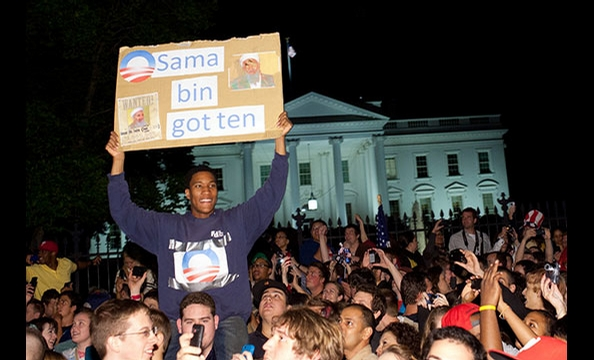 Bin Laden's Death Prompts Partying Outside the White House