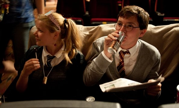 Harry Potter Fans Gather for Midnight Opening at the Uptown Theatre