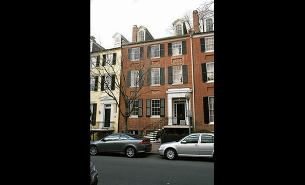 Seller: Journalist-turned-Obama-spokeswoman Linda Douglass and her husband, lawyer John Phillips. Neighborhood: Georgetown.  Price: $4.6 million. Details: Six bedrooms, eight baths, six levels, seven fireplaces, three-car garage.