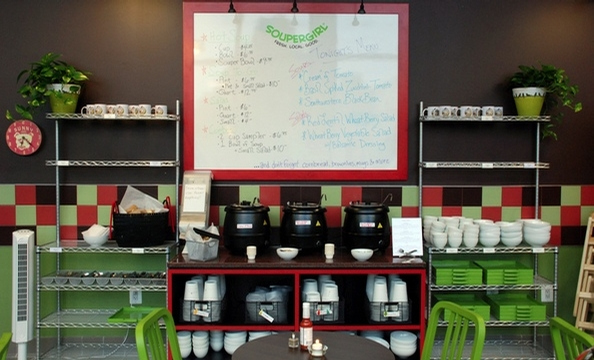 This Takoma Park cafe sells from-scratch soups and salads made with local ingredients.