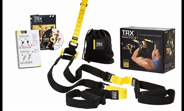 The TRX Suspension Training kit is a portable, total-body training system that leverages your body weight to strengthen muscles from head to toe. An instructional DVD and booklet, which demonstrate more than 300 exercises, are included in the Pro Pack. Ge