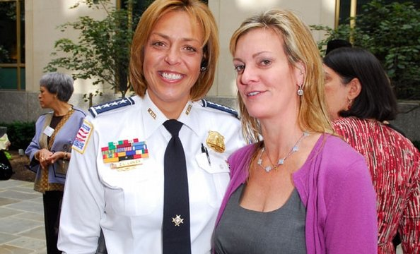 Cathy Lanier and Katharine Weymouth