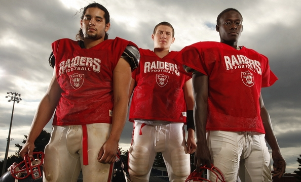 The Stuart Raiders are hoping for their first winning season in 14 years. Helping lead the effort are Chris Ventura, whose family is Salvadoran, Falls Church native Jason Friday, and Tijani Musa from Sierra Leone.